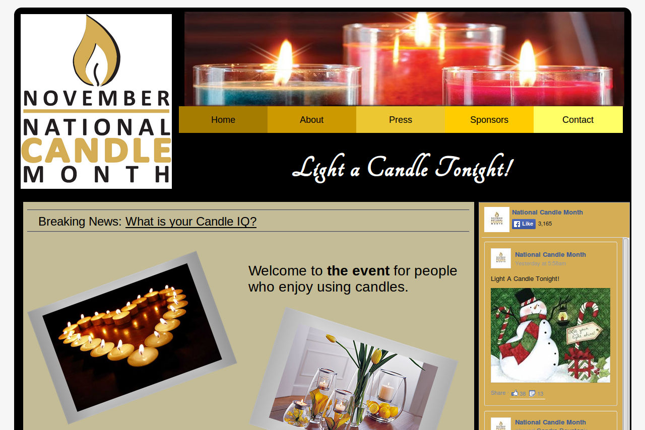 National Candle Month: Light a Candle Tonight!
